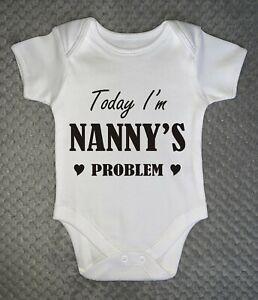 NANNY'S PROBLEM - Baby Grow bodysuit baby shower gift vest