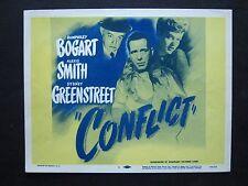 CONFLICT '45 HUMPHREY BOGART SYDNEY GREENSTREET FILM NOIR TITLE CARD