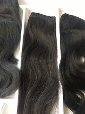"Human Hair Extensions clip in 100grams 12"" 1b Black Brown Afro Full Head"