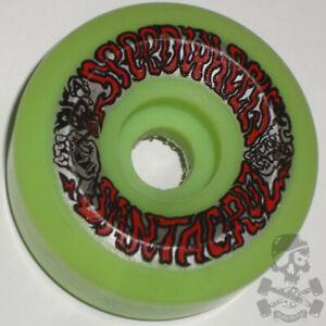 SANTA CRUZ Skateboard Speed Wheels 62mm 95a  '80s Old School Factory 2nds Green
