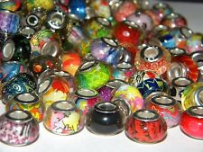 NEW 20/Pc NICE High quality Resin Visual Mixed 14mm  European Beads lot