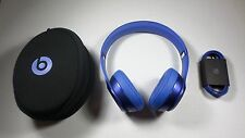 Original Beats by Dr. Dre Solo 2 Wired Headphones - Blue Sapphire Excellent