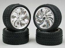 Pegasus 1218 x 1/24-1/25 Cyclone Chrome Rims w/Tires (4)