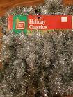 Brite Star Holiday Classics 30 Feet Silver Tinsel Garland