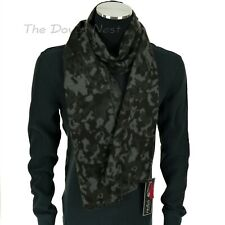 FRAAS Men's CHARCOAL Gray CAMOUFLAGE Print WINTER SCARF with Short Fringe