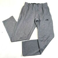 The North Face Sweatpants Mens S Gray Pockets Comfy Loose Fit Lined Logo