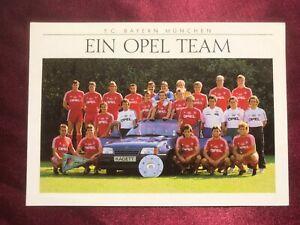 Mannschaftskarte FC BAYERN MÜNCHEN 89/90-Kohler/Dorfner/Coordes/Mihajlovic-AK