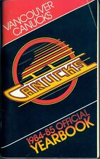 1984-85 VANCOUVER CANUCKS HOCKEY YEARBOOK GUIDE W/Cam Neely Richard Brodeur
