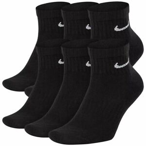 Nike Everyday Cushion Dri-Fit Ankle Socks Black 6-Pack Men's Sz 8-12 SX7669-010