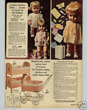 1972 PAPER AD Goldberger Softina Doll Dolls Clothes Furniture Baby Tender Love