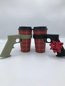 Gun Coffee Sleeve For Guys Man Gun Gift Cool Husband Gift Unique Guy Gift