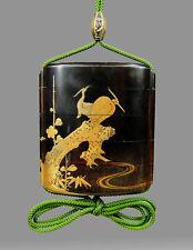 Antique Japanese Lacquer Edo period inro