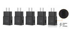5x Adaptive Fast Rapid 2A Wall/Travel Plug Charger For Samsung A71 A70 A50 Black