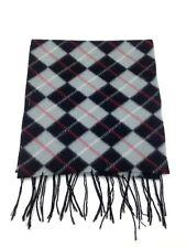 $115 Alfani Mens Gray Black Argyle Warm Winter Scarf Neck Muffler Shawl Wrap