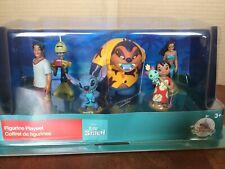 DISNEY Store FIGURE Playset LILO & STITCH Figurine 6 Piece PLAY SET Topper NEW