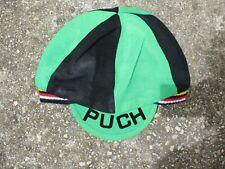 Casquette bonnet cycliste PUCH vert noir oldschool cap vintage années 70