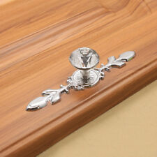 5Pcs Glass Diamond Crystal Dresser Knobs Drawer Pull Handle Cabinet Door 4.8""