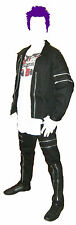Black Canvas Jacket with Zips. Punk Goth. New S M L XL 2XL 3XL bondage skin