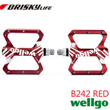 Free shipping Wellgo B242 red color pedal platform mountain bike pedal
