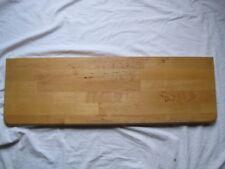 Regalbrett Brett Regal helles Holz abgerundete Kanten 80x25 cm Wandregal