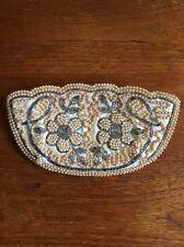 VIntage Beaded Faux Pearl Evening Bag Purse Handmade Satin Lined Art Deco