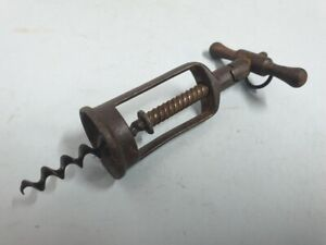 Antique corkscrew in iron unmarked with unusual model
