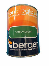 Berger Non Drip Gloss For Interior/Exterior - Wood/Metal Henley Green Paint