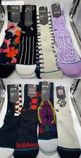 Lot of 8 Stance Mens Crew Socks Size Large L, Grade A+++ Socks NWT Sox N Soles