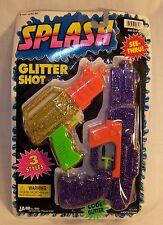 Vintage JA-RU SPLASH - Water Guns Pistols - Glitter Shot - Bright Colors - 1998