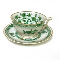 Haviland Limoges Green Cashmere Pattern Cup & Saucer (7 available)