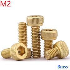 2mm / M2 x 0.4 Solid Brass ALLEN BOLT SOCKET HEAD CAP SCREWS DIN 912 NEW