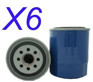 6X Oil Filter fits Z148 for Mazda 929 2.0 i GLX (HB) 1985 - 1987