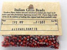 Antique White Heart Trade Beads from Murano Italy   V 270