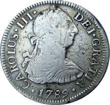1789 México Colonial 2 Reales Mo. F. F. Carolus III - Silver Coin KM: 88.2a