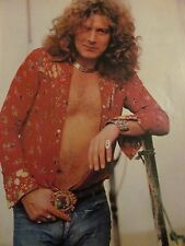 Robert Plant, Led Zeppelin, Shirtless, Full Page Vintage Pinup