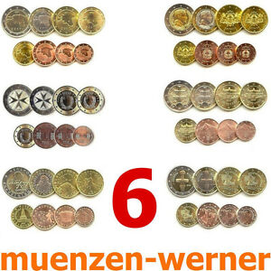 Kursmünzensatz Estland Lettland Malta Slowakei Slowenien Zypern Euro•Münze•KMS