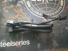 Corsair PCIe Type 4 PSU Cable Black duel 6+2 pin pci-e pwr connectors, All PSU'S