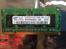 512MB DDR2 PC2-5300S 667MHz Laptop SODIMM RAM Memory 200-Pin.