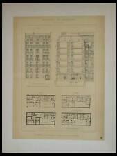 PARIS, 25 RUE DECAMPS - 1895 GRANDE LITHOGRAPHIE - GOURY