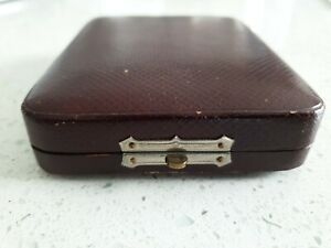 Antique Victorian Edwardian European Brooch Pin Jewelry Presentation Case Box