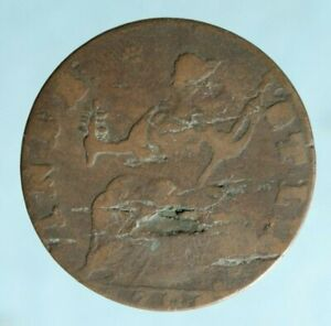 Connecticut halfpenny, 1786, Miller, 5.11-R, R-5, American colonial coin copper
