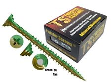 More details for twisterscrews e-coat decking screws superior electropolyseal coated in tan/green
