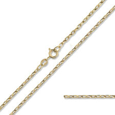 "375 9CT GOLD BELCHER CHAIN 20"" DIAMOND CUT D/C ROLO SOLID LINK PENDANT GIFT BOX"
