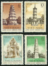 Viet Nam 170-173,MI 176-179,MNH. Ancient Towers:Thien Mu,Pen Brush,Cham, 1961
