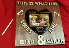 """7"""" x 7"""" Frame Personalized Wedding Gift present, Wooden Name Sign"""