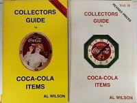 Coca-Cola Collector's Guide Book Lot- Volumes I & II by Al Wilson 1990's