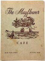 1950's Vintage Menu THE MAYFLOWER CAFE Restaurant Hyannis Massachusetts Cape Cod