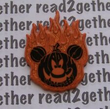 Disney Pin Halloween Flaming Pumpkin Mickey