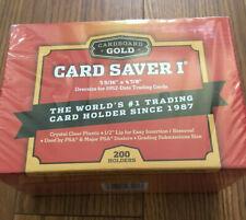 200 Cardboard Gold Card Saver 1 - Sealed Box PSA BGS plastic protector sleeve