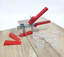 Fliesen Nivelliersystem - Set Rot 1-1,5-2-2,5-3 Verlegehilfe Laschen Keile Zange